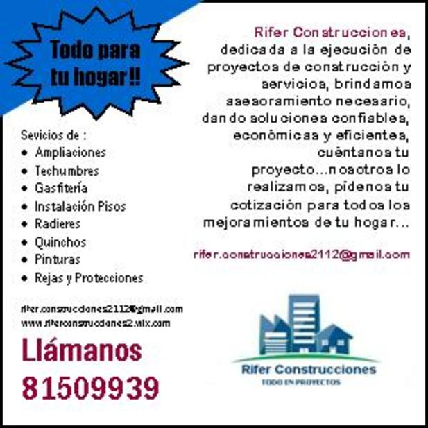 Rifer Construcciones Flyers Gu 237 A Local
